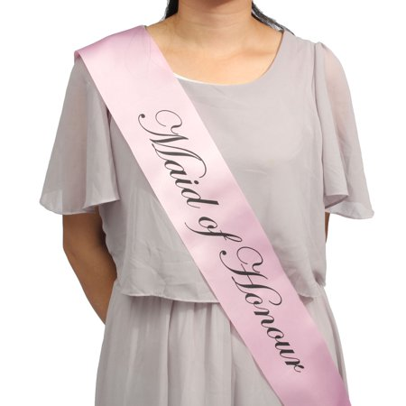 Party Sashes Girls Night Out Accessory Wedding Light Pink Sash Collections - image 1 of 5