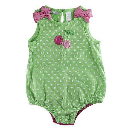 First Impressions Baby Girls One-Piece Cherry Sunsuit Bodysuit Girls One Piece Bodysuit