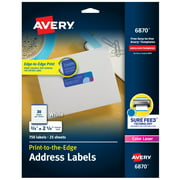 "Avery Address Labels, Sure Feed, 3/4"" x 2-1/4"", 750 Labels (6870)"