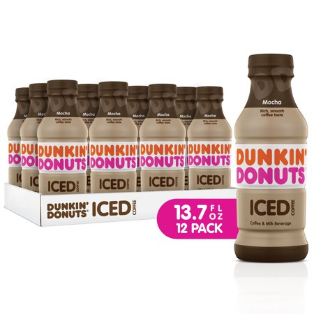 Dunkin' Donuts Iced Coffee, Mocha, 13.7 Fl Oz, 12