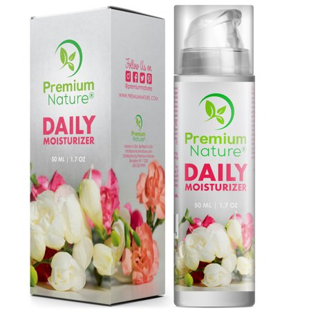 - Face Cream Daily Moisturizer 1.7 oz - Natural Facial Skin Care Under Eyes Bags Puffy Dark Circles Spot Wrinkles Acne Best Night Treatment Lotion Gel Serum Rosehip Seed Oil Limited Edition 2.0