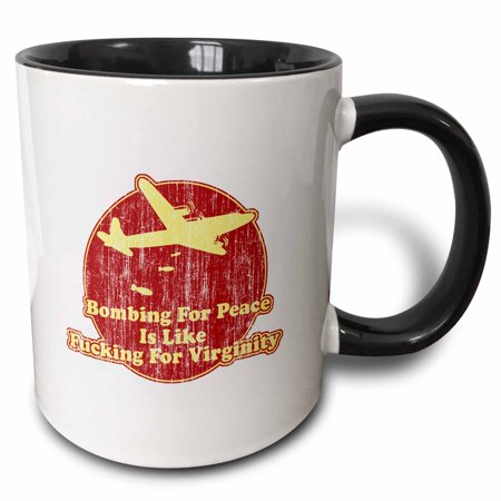 3dRose Bombing for Peace - Two Tone Black Mug, 11-ounce](Jager Bomb Cups)