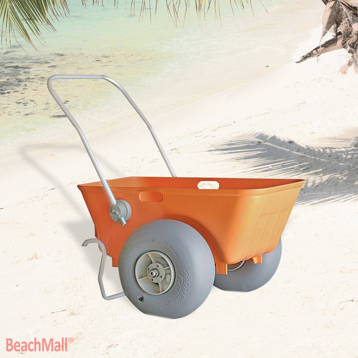 Heavy Duty Wheeleez Beach Cart with Big Balloon Wheels