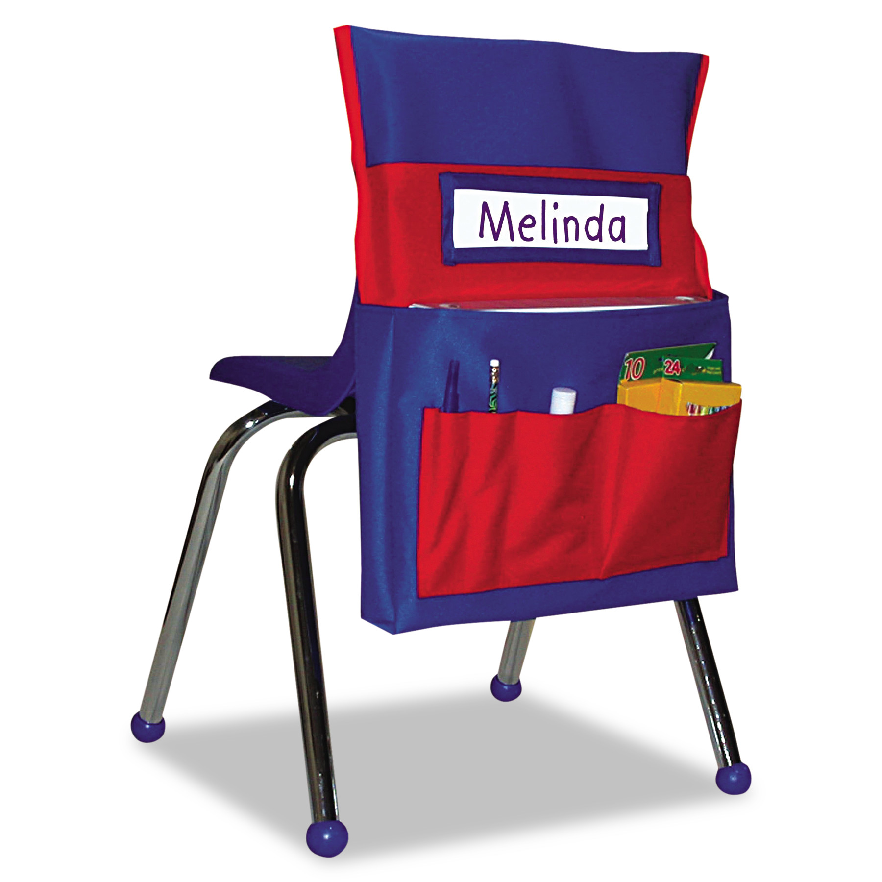 Carson-Dellosa Publishing Chairback Buddy Pocket Chart, 12 x 22 1/2, Blue/Red