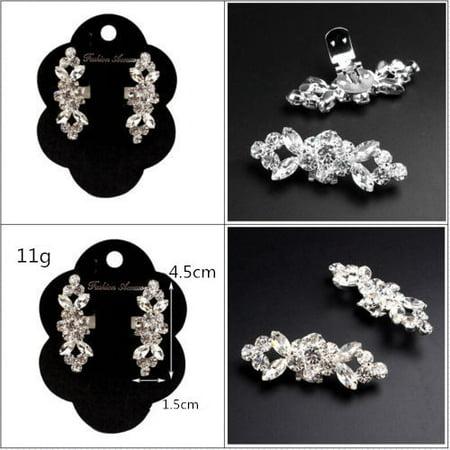2pcs Crystal Crystal High Heel Shoe Charming Clips Rhinestone Wedding Diamante - image 3 of 7