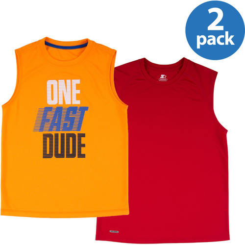 Starter Boys's Sleeveless Active Shirt 2-Pack Value Bundle