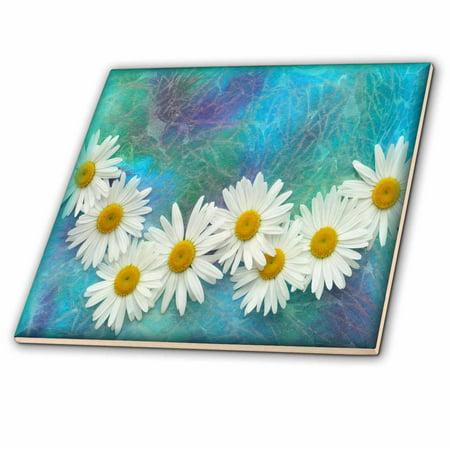 3dRose Daisy Chain - Ceramic Tile, 6-inch