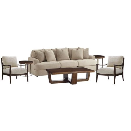 Set Of 2 Living Room Accent Chairs.6 Piece Living Room Set With Sofa Set Of 2 Accent Chairs Coffee Table And Set Of 2 End Tables In Mocha And Ivory
