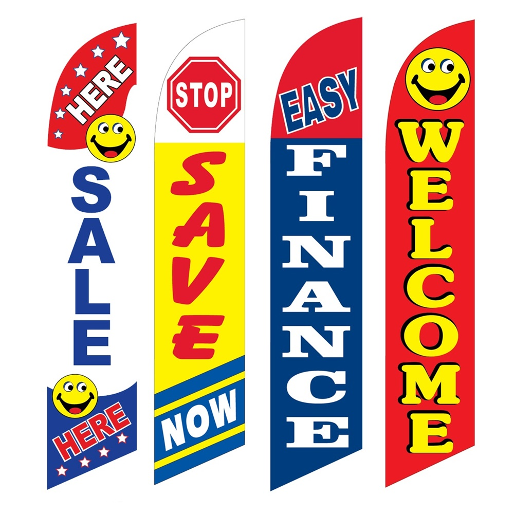 4 Advertising Swooper Flags Sale Here Save Now Easy Finance Welcome