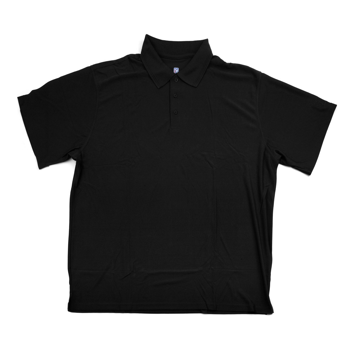 PGA TOUR Men's Polo Shirt - Black Solid - Small