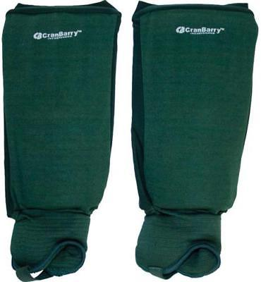 CranBarry Deluxe Field Hockey Shinguards, ADULT (pair), Dark Green