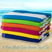 Product Image Large Beach Pool Towel Striped Cotton Blend Cabana Stripe Variety 6 Pack 30