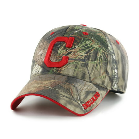 Fan Favorite MLB Mossy Oak Adjustable Hat, Cleveland Indians