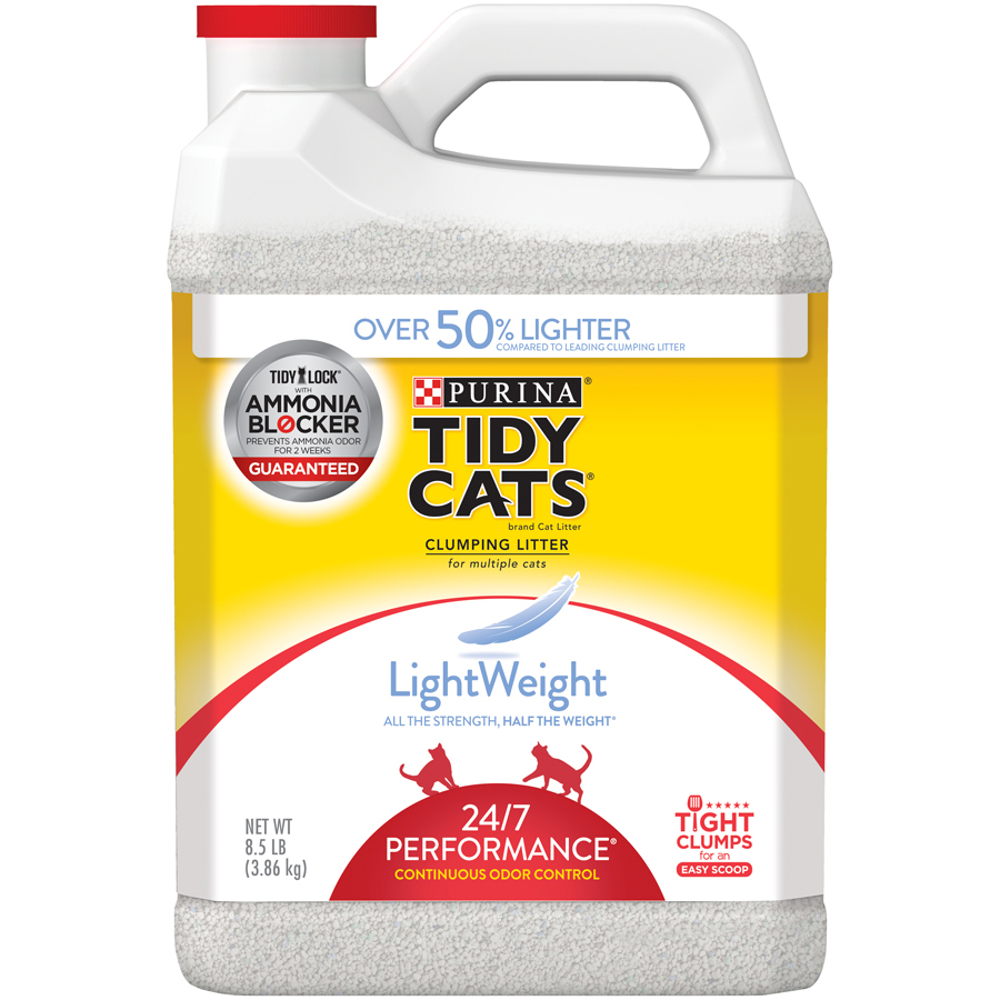 Purina Tidy Cats LightWeight 24/7 Performance for Multiple Cats Clumping Cat Litter, 8.5 Lb.