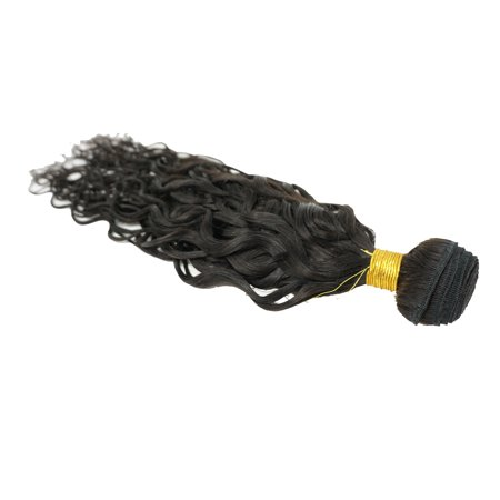 NATURAL WAVE Peruvian Virgin REMY Hair Can be Dyed ABSORBS Color Easily Tangle Free Hair Weave Extension WEFT TRACK Natural Black Color ONE PC 100g