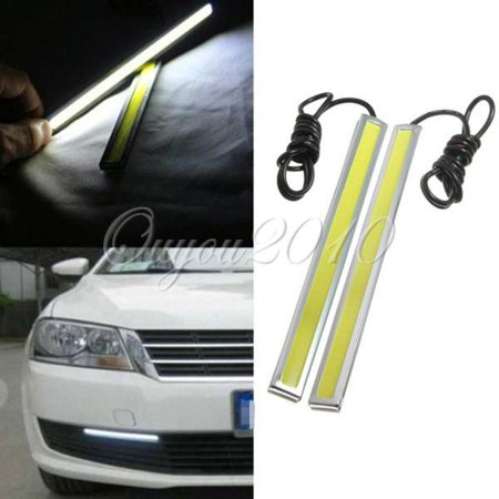 2 Packs 12V LED Car Truck Auto DRL Driving Daytime Running Fog Light Lamp White