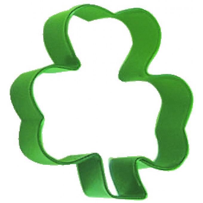 Shamrock Green 3 in Cookie Cutter Pr1160G - R&M Cookie Cutters - Tin Plate Steel