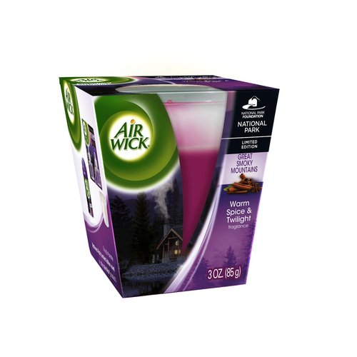 Air Wick Scented Candle, Warm Spice & Twilight Scent, 3 oz.