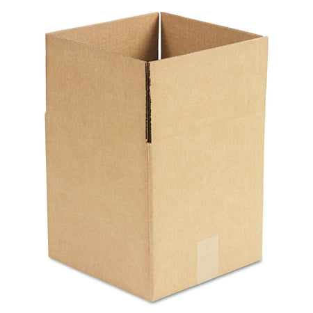 General Supply Brown Corrugated - Cubed Fixed-Depth Shipping Boxes, 10l x 10w x 10h, 25/Bundle (Cardboard Box With Handle)