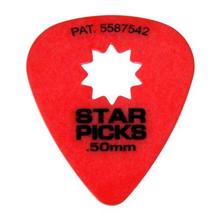 Everly Star Grip Guitar Picks (50 Picks) .50 mm