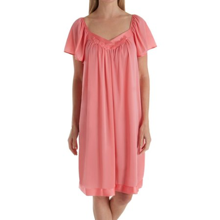 Coloratura Short Gown (Women's Exquisite Form 30109 Coloratura Flutter Sleeve Short Nightgown)