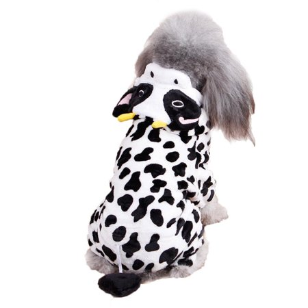 Dog Hoodie, Legendog Creative Cow Winter Warm Pet Apparel Dog Sweatshirt Dog Costume Dog Clothes for Puppy