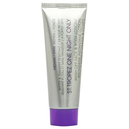 St. Tropez One Night Only Wash Off Face & Body Lotion, Medium/Dark 1.6 (St Tropez One Night Only Finishing Gloss)