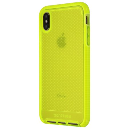 premium selection b3857 c1d91 Tech21 Evo Check Series Gel Case for Apple iPhone XS Max - Neon Yellow