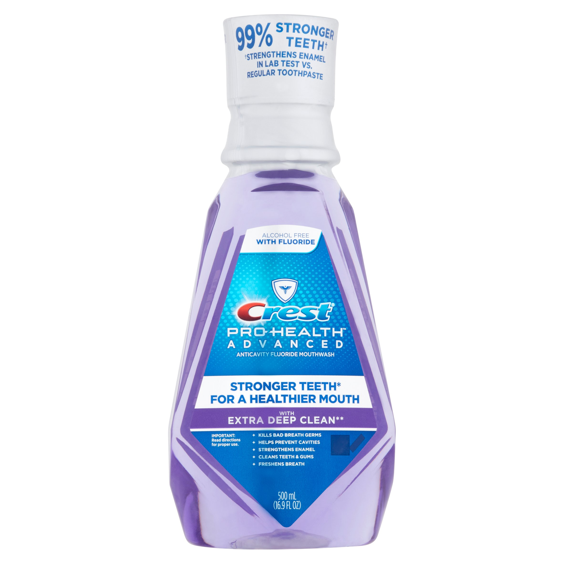 Crest Pro-Health Advanced with Extra Deep Clean Clean Mint Flavor Mouthwash, 16.9 fl oz