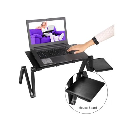MultiFunctional 360-Degree Adjustable Foldable Laptop Stand Table Desk With Mouse Board for Bed Sofa - Multi Functional Stand