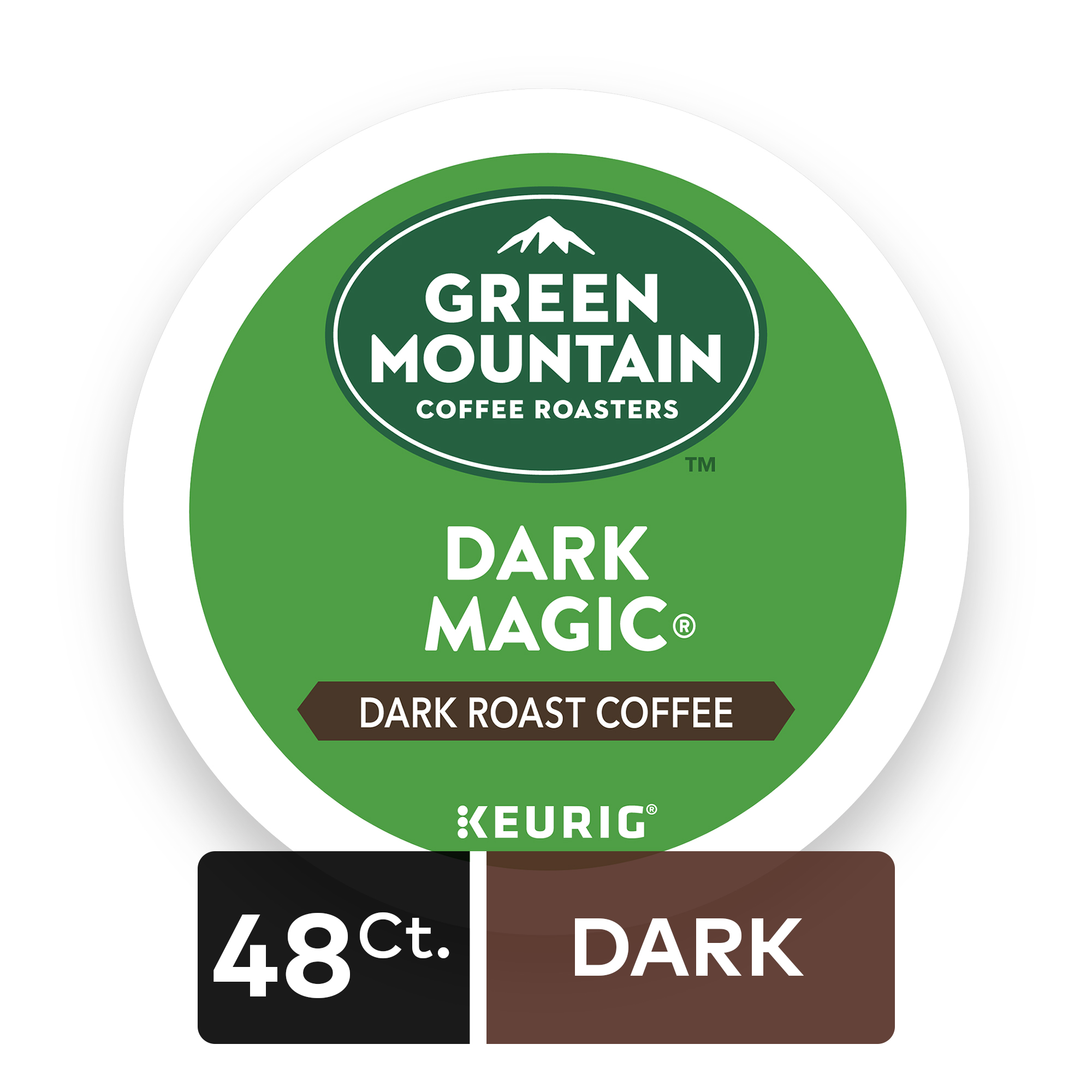 Green Mountain Coffee Dark Magic, Keurig K-Cup Pods, Dark Roast, 48 Count