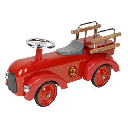 Classic Fire Engine Foot-to-Floor Racer - Ride On Fire Engines