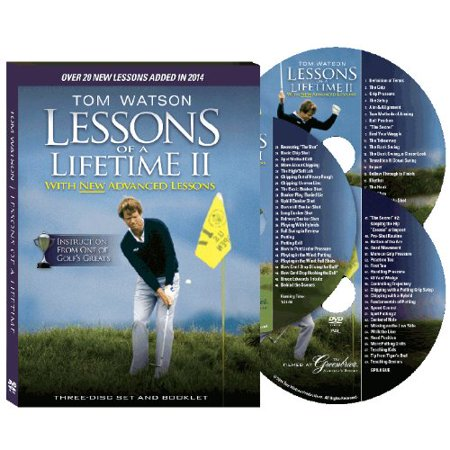 Tom Watson Lessons of a Lifetime Two Discs and Booklet (2010), Comprehensive golf instruction for beginners, experienced, and advanced players. By SLOVentures from