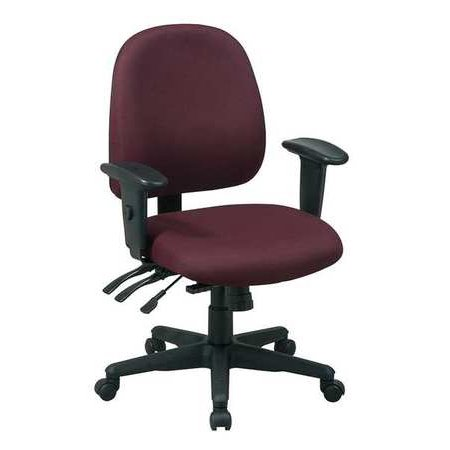 office star 43808 227 ergonomic office chair fabric burgundy
