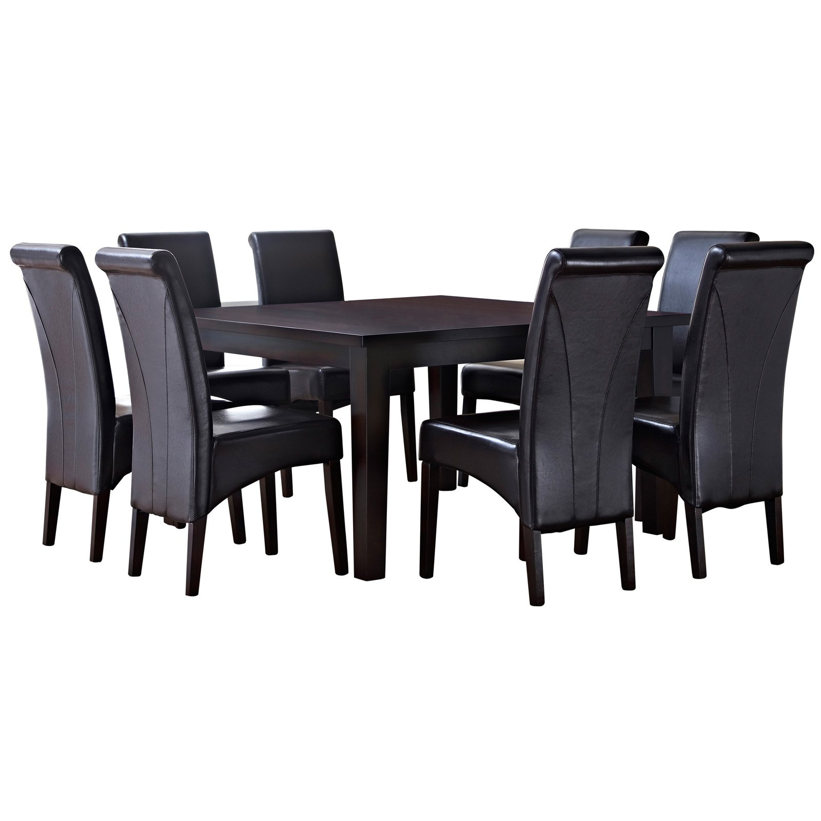 Simpli Home Avalon 9 Piece Dining Set