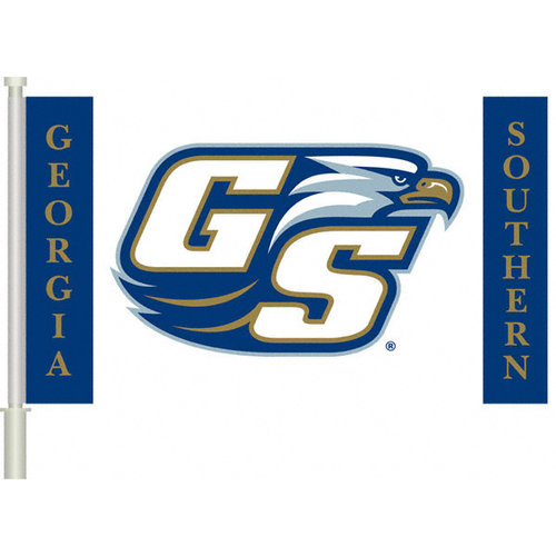 "NCAA - Georgia Southern Eagles ""GS"" 11x18 Double Sided Car Flag - Set of 2"
