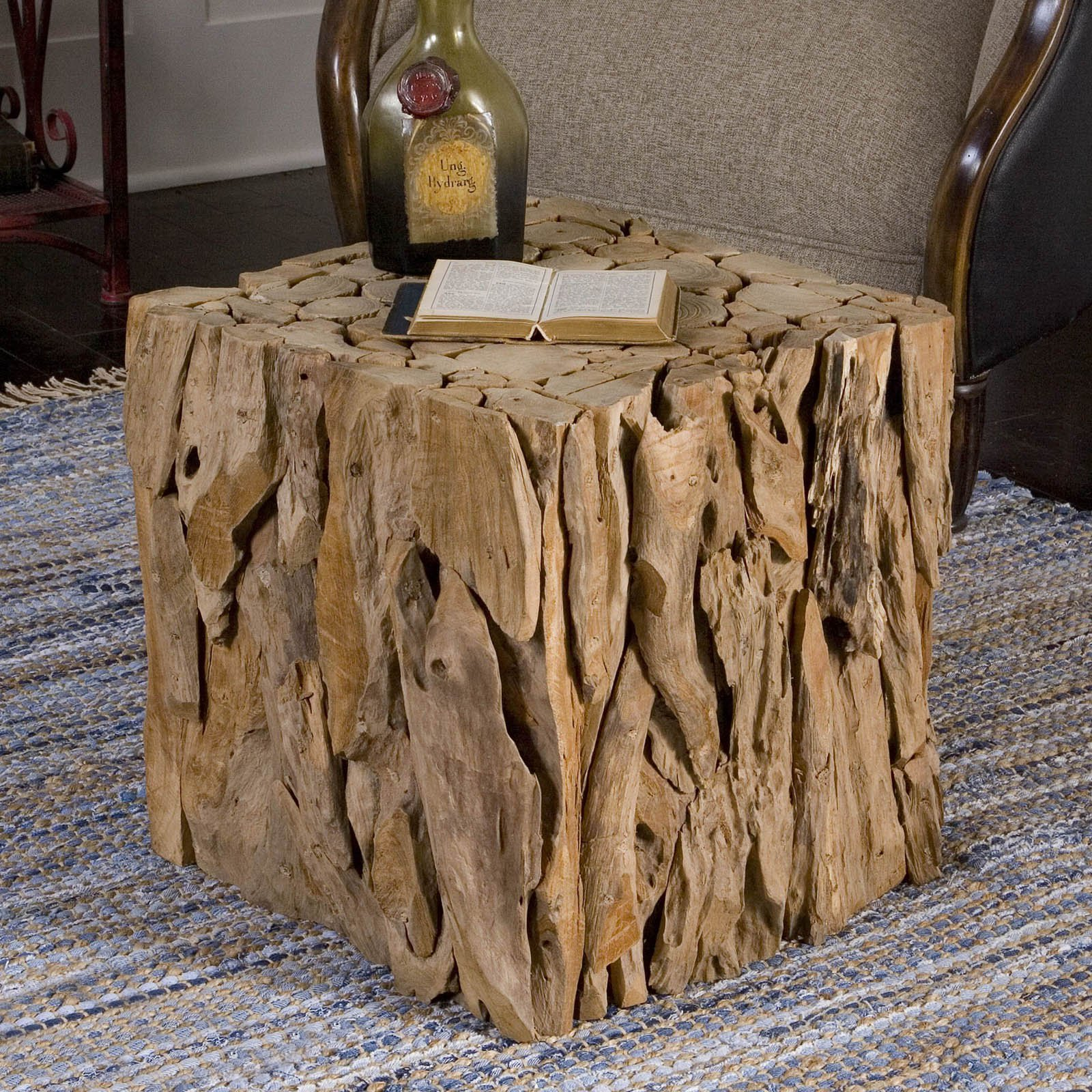 Uttermost Teak Root Bunching Cube Table by Uttermost