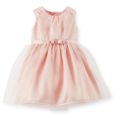 Carter Little Girls Special Occassion Dress (Pink, Shimmer Satin Dress) 6x](Shimmer Dress)