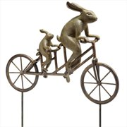 SPI Home 33862 Tandem Bicycle Bunnies Garden