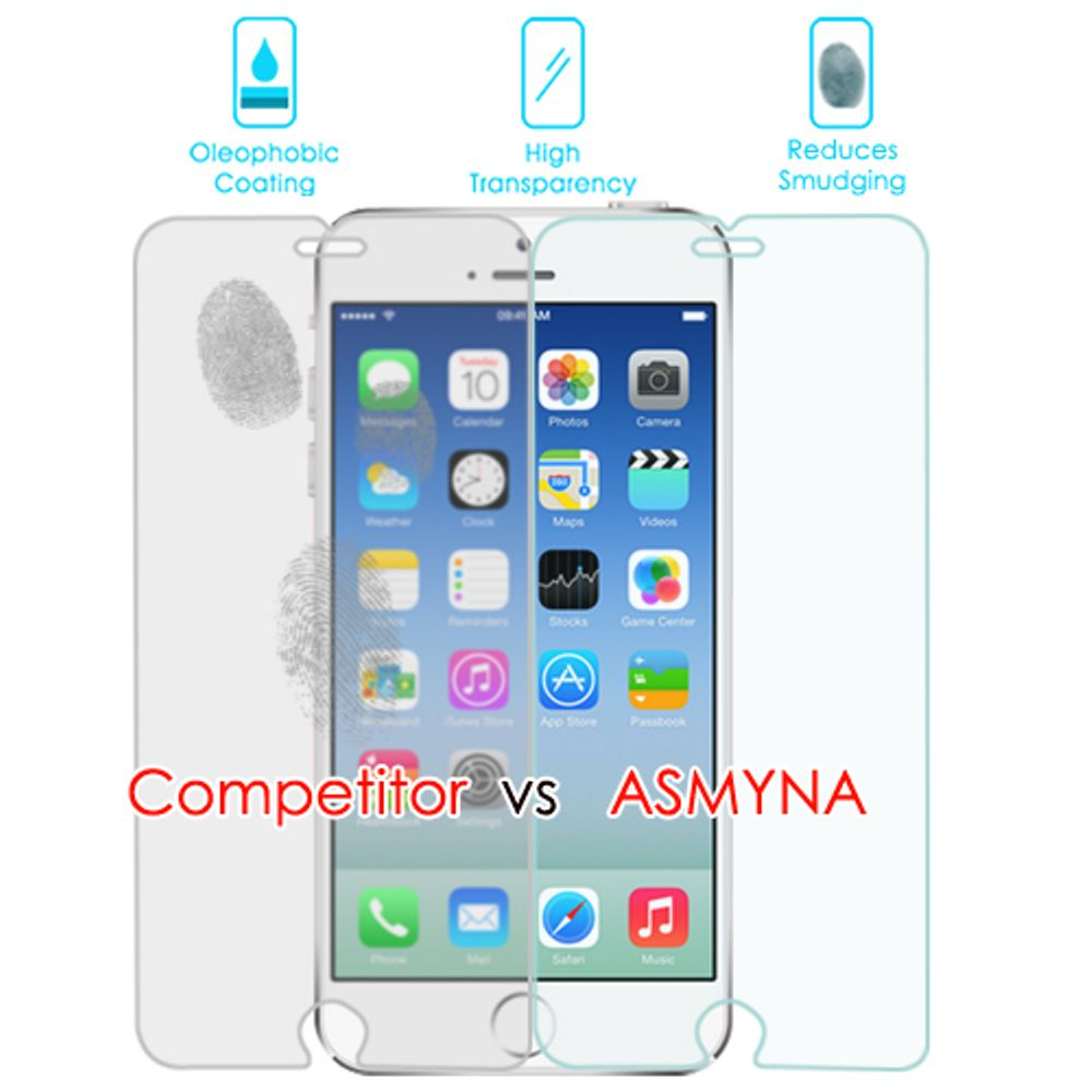 Insten 6-Pack Clear Tempered Glass LCD Screen Protector Film Cover For Apple iPhone 6 / 6s - image 1 of 3