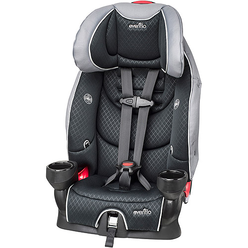 Evenflo SecureKid LX 2-in-1 Harness Booster Car Seat, Raven