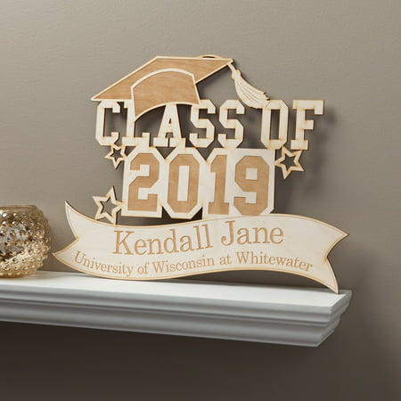 Class of 2019 Personalized Wood Graduation Plaque