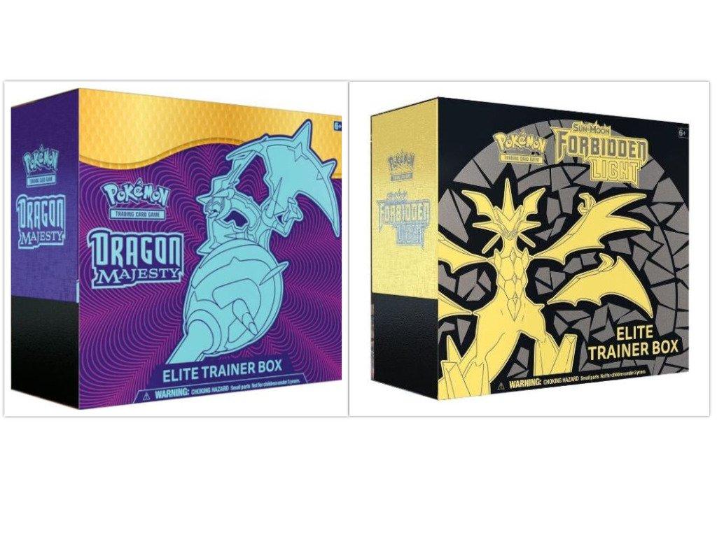 EMPTY Pokemon Dragon Majesty Elite Trainer Box Storage for cards