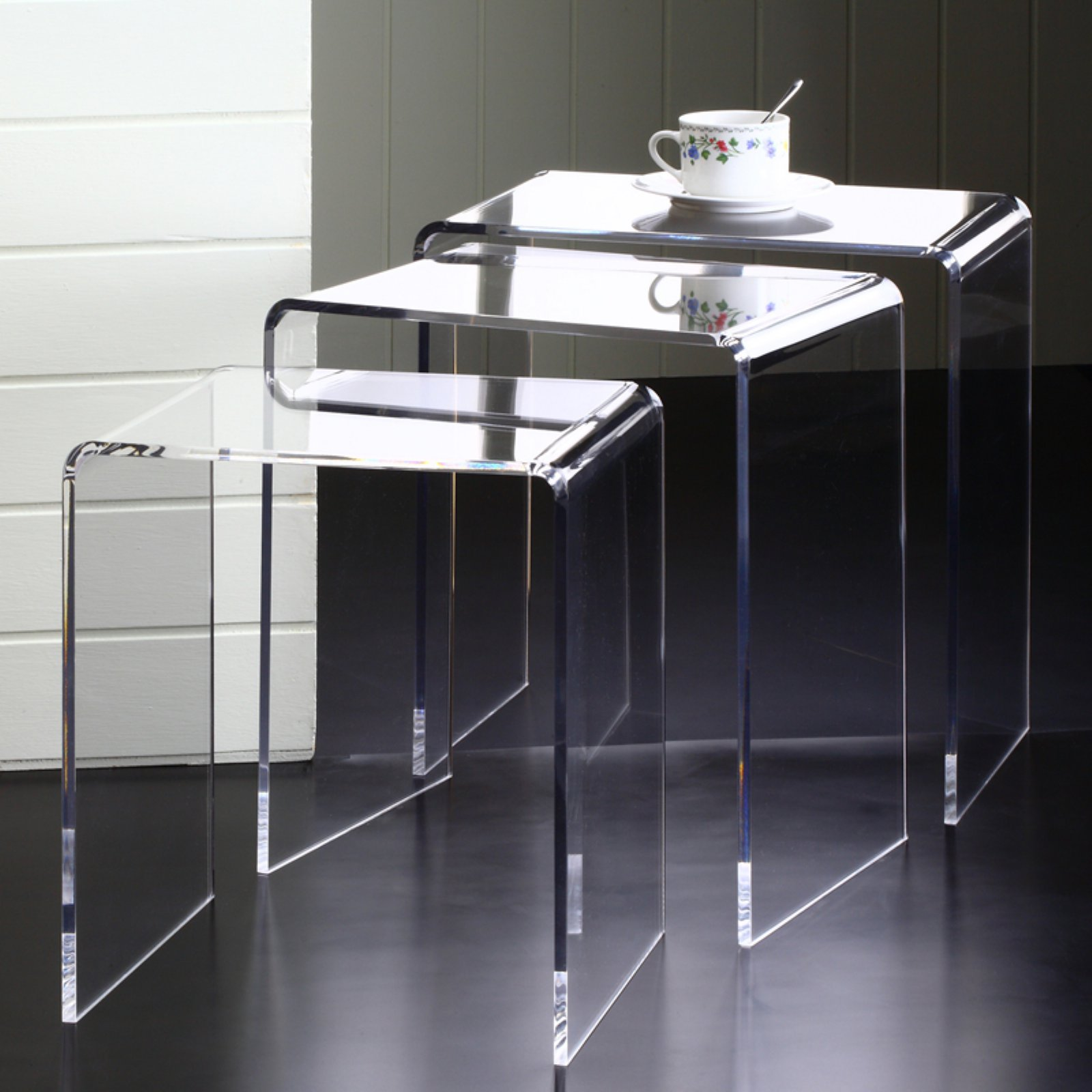 Product Image Fox Hill Trading Acrylic Nesting Side Tables  Set Of 3