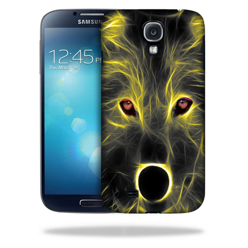 MightySkins Snap-On Protective Hard Case Cover for Samsung Galaxy S4 Neon Wolf