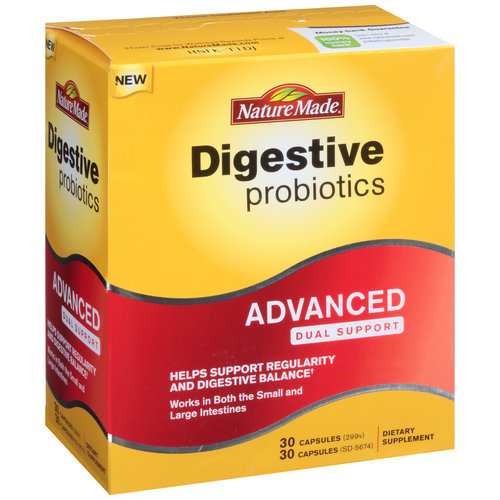 Nature Made Digestive Probiotics Advanced Dual Support Dietary Supplement, 60 count