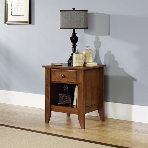 Sauder Shoal Creek Nightstand in Jamocha Wood - Walmart