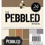Pebbled Embossed Cardstock Paper Stack 6