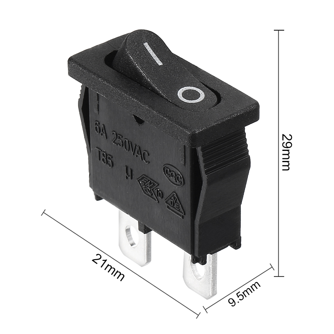 Details about  /Boat Rocker Switch Red Neon Toggle Switch ON//OFF AC 250V 6A 125V 10A 5PCS