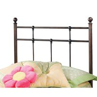 Hillsdale Furniture Providence Twin Headboard with Bed Frame, Antique Bronze